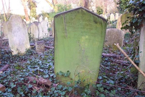 Lápida de la tumba de Emily Gosse