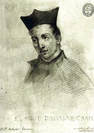 Grabado con el retrato de Baltasar Gracián