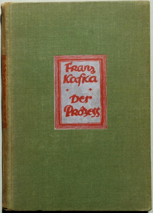 """Cubierta de la primera edición de """"El proceso"""" (1925). Kafka había muerto un año antes."""