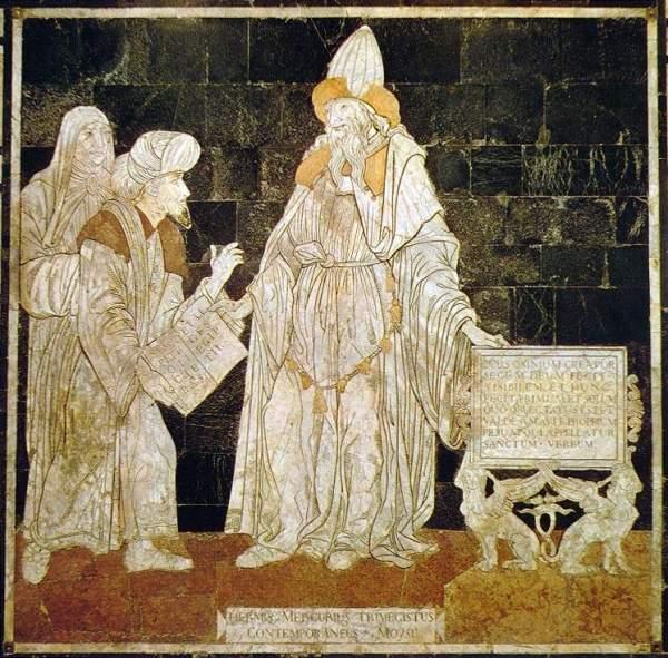 Hermes Trismegisto, en un mosaico de la Catedral de Siena
