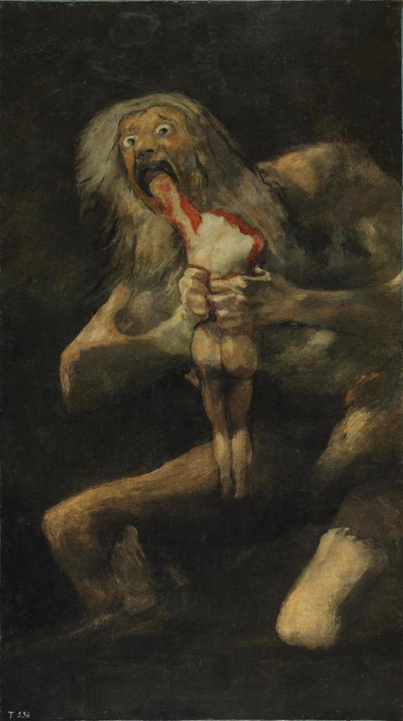 """""""Saturno devorando a su hijo"""", de Goya"""