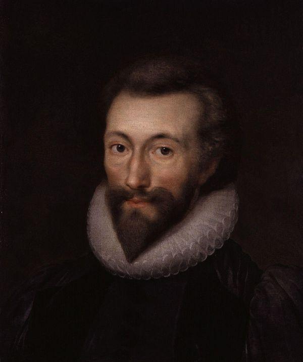 Retrato de John Donne según una miniatura de Isaac Oliver, hacia 1616